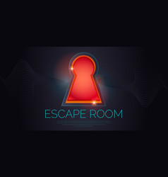 real-life room escape and quest game poster vector image