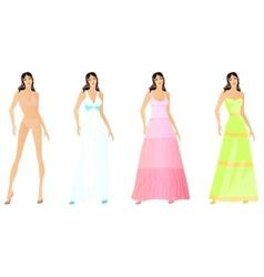 Set of fashion vector image vector image