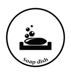 Soap-dish icon vector image vector image