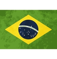 True proportions brazil flag with texture vector