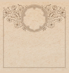 Vintage old paper texture with traditional vector