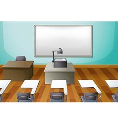 An empty classroom vector
