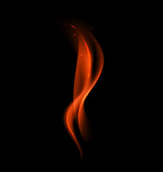 Abstract red fire flame on background vector