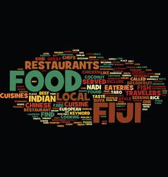 Fiji food text background word cloud concept vector