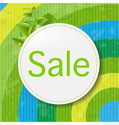 Green Sale Poster With Color Line vector image