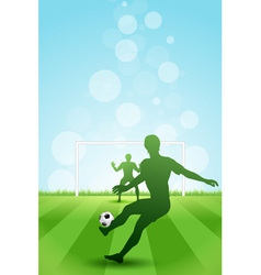 Soccer background with two players vector