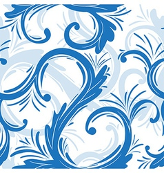 Curl seamless pattern vector