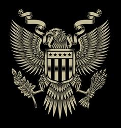 American eagle emblem vector