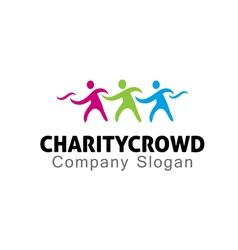 Charity crowd design vector