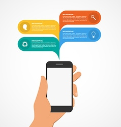 Modern design infographic with mobile phone vector