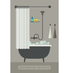 Bathroom interior with bath vector