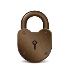 Retro lock isolated on white vector