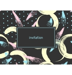 Hand drawn abstract grunge invitation card vector image