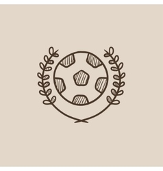 Soccer badge sketch icon vector