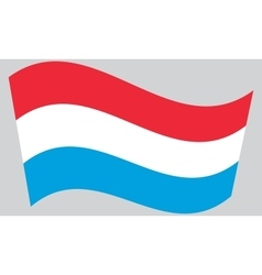 Flag of luxembourg waving vector