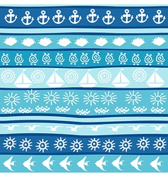 Background with marine motifs vector image