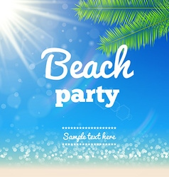 Beach sunny background- Design vector image vector image