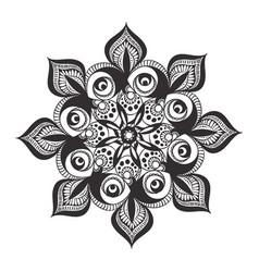 Black and white mandala pattern vector