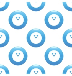 Bowling ball sign pattern vector image