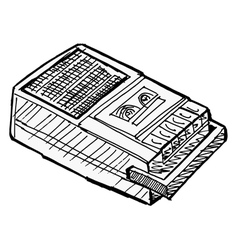 compact tape recorder vector image vector image