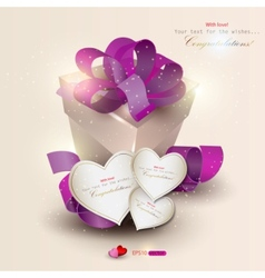 elegant background with gift and gift cards vector image vector image