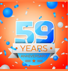 Fifty nine years anniversary celebration vector