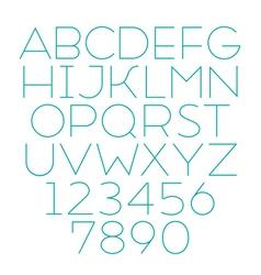 Handmade sans-serif font thin type vector