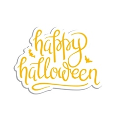 Happy Halloween Calligraphy vector image