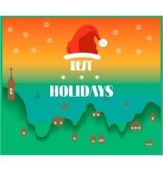 Holidays card vector