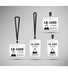 id card black vector image