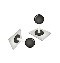 Joystick or control column on white background vector