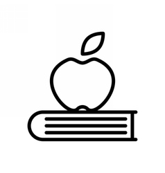 Knowledge outline icon vector
