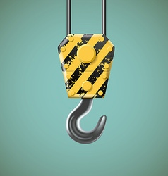 Lifting hook stock vector