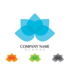 lotus logo template vector image