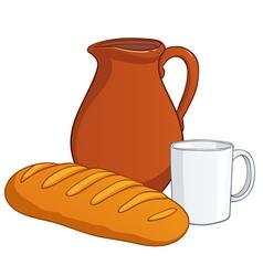 milk bread vector image vector image