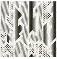 Monochrome cloth pattern with grunge effect vector