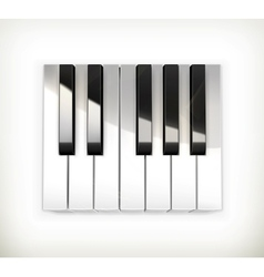 Octave piano keys vector