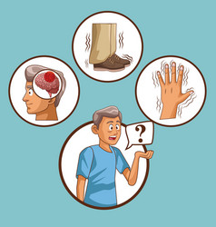 Parkinsons disease cartoon vector