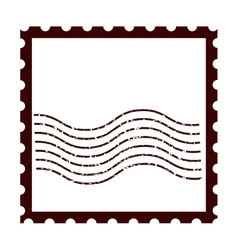 Postal stamp classic isolated icon vector