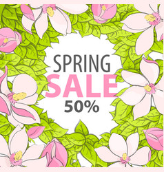 Poster with the inscription on the spring sale vector
