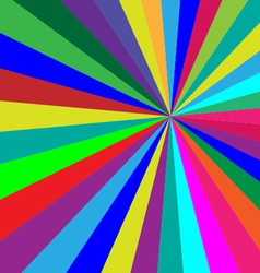 Rainbow colorful folded paper triangles background vector image
