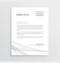 simple letterhead design template vector image