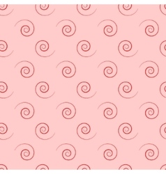 Spiral geometric seamless pattern vector image