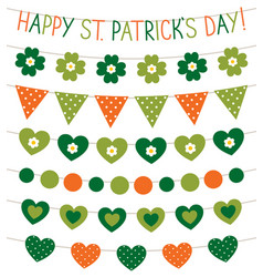 St patricks day banners vector