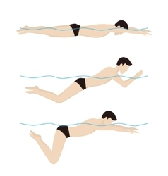 Swimming breaststroke style vector