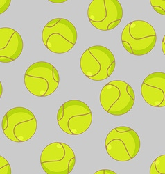 Tennis ball seamless pattern sports accessory vector