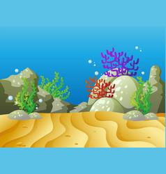 underwater scene with coral reef vector image vector image