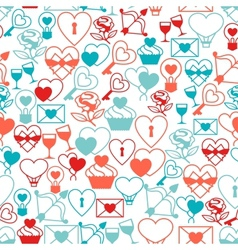 Valentines and Wedding seamless pattern vector image vector image