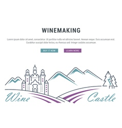 Wine banner for website banner and landing page vector