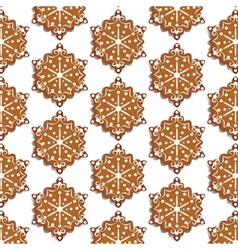 Winter snowflakes sweets pattern vector